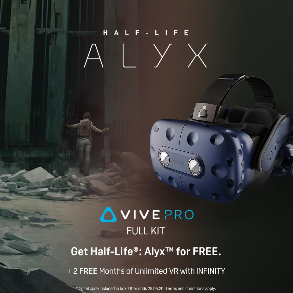 HTC nabízí v akci Half-Life: Alyx ke každému Vive Pro Full Kit
