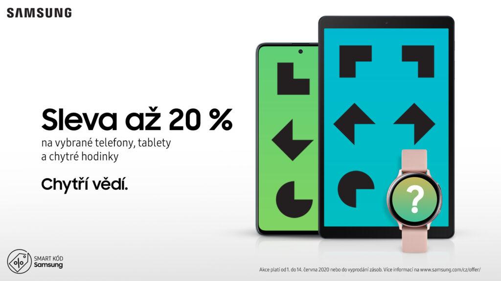 Akce Samsungu! Získejte slevu až 20 % na vybrané telefony, tablety a chytré hodinky