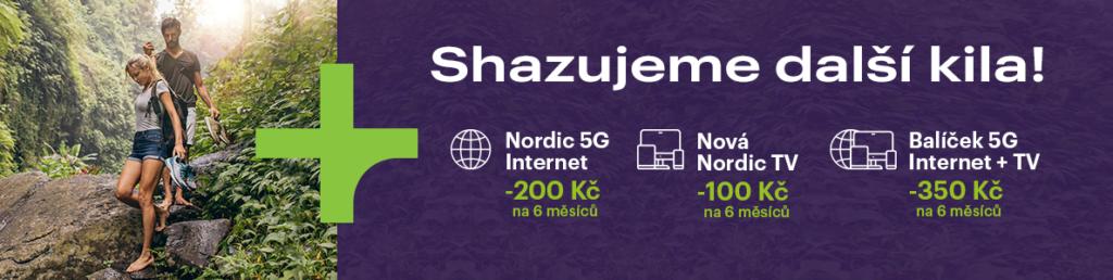 Nordic Telecom zlevňuje pevný internet i Nordic TV