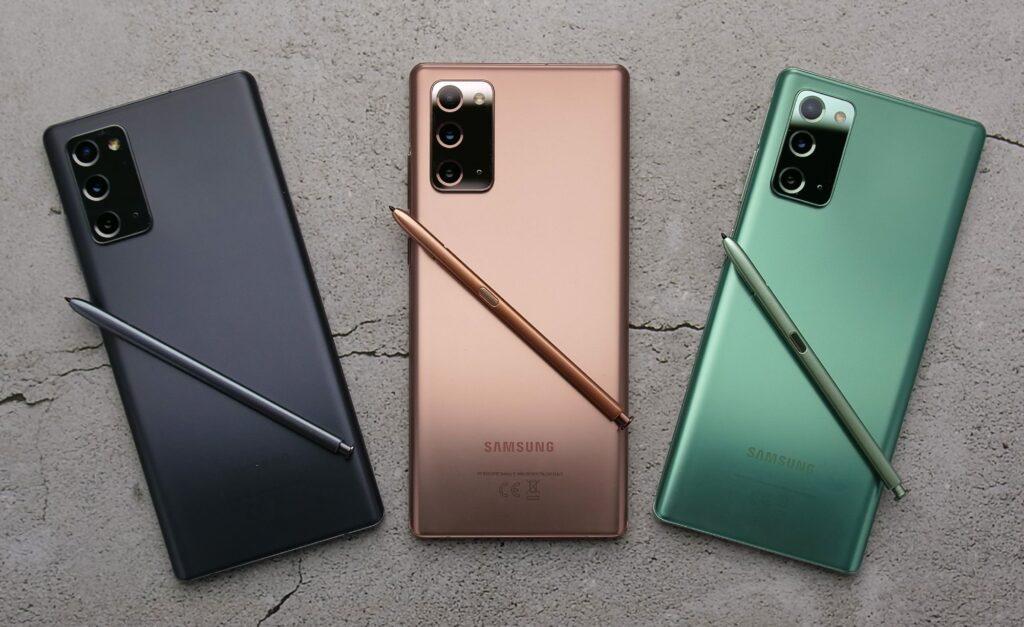 Samsung představil špičkové phablety Galaxy Note 20 a Note 20 Ultra